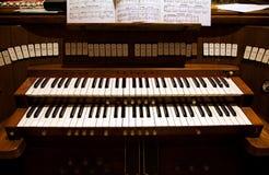 Dettaglio di un organo in una chiesa Fotografia Stock Libera da Diritti