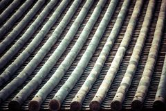 Dettaglio di un tetto giapponese Fotografia Stock Libera da Diritti