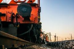 Dettaglio di un treno merci portoghese Fotografie Stock Libere da Diritti