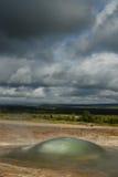 Dettaglio di una bolla nell'area del geysir, Islanda Immagine Stock