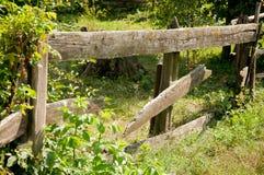 Dettaglio di una palizzata di legno Fotografie Stock Libere da Diritti