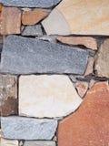 Dettaglio di una parete costruita di pietra fotografia stock
