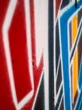 Dettaglio di una parete dipinta variopinta - fondo fotografia stock