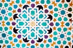 Dettaglio di una parete nel palazzo di Nasrid Fotografia Stock