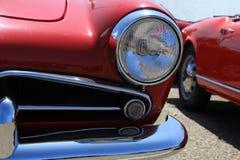 Dettaglio di una parte anteriore d'annata dell'automobile Fotografia Stock Libera da Diritti