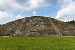 Dettaglio di una piramide al sito archeologico di EL Tajin nello stato di Veracruz fotografia stock libera da diritti