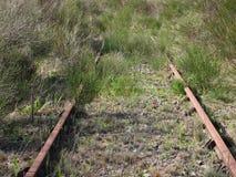 Dettaglio di una pista abbandonata Fotografia Stock