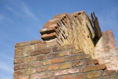 Dettaglio di una rovina variopinta Fotografia Stock
