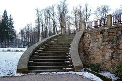 Dettaglio di una scala del castello Fotografie Stock