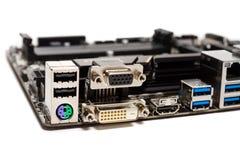 Dettaglio di una scheda madre del computer del PC Immagini Stock Libere da Diritti