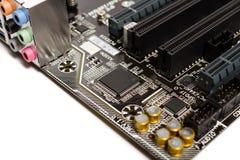 Dettaglio di una scheda madre del computer del PC Immagine Stock Libera da Diritti