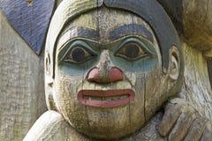Dettaglio di una scultura del palo di totem Immagini Stock
