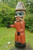 Dettaglio di una scultura del palo di totem Immagini Stock Libere da Diritti