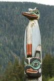 Dettaglio di una scultura del palo di totem fotografia stock libera da diritti