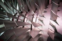Dettaglio di una turbina aeronautica immagini stock libere da diritti