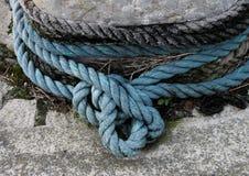 Dettaglio di vecchia corda marittima Fotografia Stock