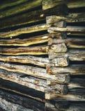 Dettaglio di vecchia costruzione di ceppo Fotografie Stock Libere da Diritti