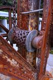 Dettaglio di vecchia gru del cantiere navale Immagine Stock Libera da Diritti