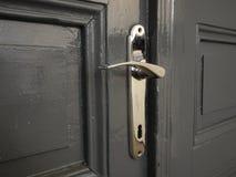 Dettaglio di vecchia maniglia di porta del metallo Fotografia Stock Libera da Diritti