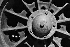 Dettaglio di vecchia ruota del carro armato Fotografia Stock