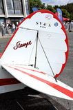 Dettaglio di vecchio biplano Stampe Fotografia Stock Libera da Diritti