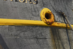 Dettaglio di vecchio boat& x27; guscio di s Immagine Stock
