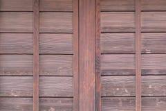 Dettaglio di vecchio fondo di legno di struttura della porta del Giappone Immagine Stock