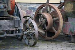 Dettaglio di vecchio macchinario di agricoltura Rustedmetal Metaltexture Priorità bassa dell'annata Retro macchinario Immagini Stock Libere da Diritti