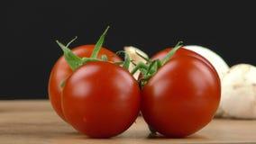 Dettaglio di verdure del pomodoro dell'alimento fresco stock footage