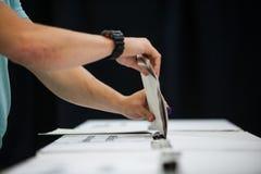 Dettaglio di voto della mano Fotografie Stock