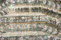 Dettaglio di Wat Arun, Bangkok Tailandia immagine stock libera da diritti