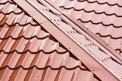 Dettaglio domestico del tetto Fotografie Stock
