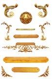 Dettaglio dorato isolato Fotografia Stock