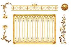 Dettaglio dorato isolato Immagine Stock Libera da Diritti