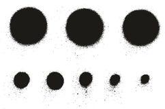 Dettaglio Dots Abstract Vector Backgrounds Set 08 dell'alta del dettaglio della pittura di spruzzo alto pittura di Dots Abstract  illustrazione di stock