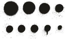 Dettaglio Dots Abstract Vector Backgrounds Set 09 della pittura di spruzzo alto illustrazione vettoriale