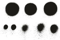 Dettaglio Dots Abstract Vector Backgrounds Set 07 della pittura di spruzzo alto Fotografia Stock