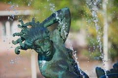 Dettaglio esteriore della scultura dallo scultore Carl Milles nel giardino della scultura di Millesgarden a Stoccolma, Svezia Fotografia Stock