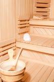 Dettaglio finlandese di sauna Immagine Stock