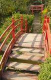 Dettaglio giapponese del giardino Fotografia Stock Libera da Diritti