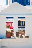 Dettaglio greco della casa fotografie stock