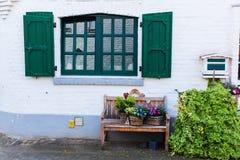 Dettaglio idilliaco della casa in Bedburg alt-Kaster, Germania Immagini Stock Libere da Diritti