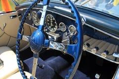 Dettaglio interno dell'automobile francese antica lussuosa Immagine Stock Libera da Diritti