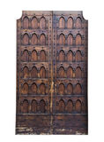 Dettaglio italiano di architettura Vecchia entrata principale medievale di stile Fotografia Stock Libera da Diritti