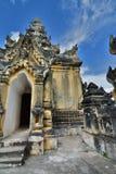 dettaglio Maha Aungmye Bonzan Monastery Inwa Regione di Mandalay myanmar fotografia stock