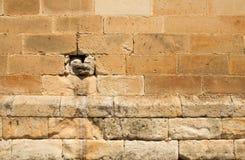 Dettaglio medievale 3 della parete Fotografia Stock