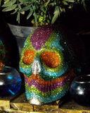 Dettaglio messicano tradizionale del cranio dello zucchero Fotografia Stock Libera da Diritti