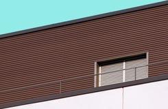 Dettaglio moderno della costruzione di architettura astratta fotografia stock