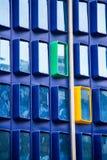 Dettaglio moderno divertente e bello di architettura di una costruzione corporativa Fotografia Stock