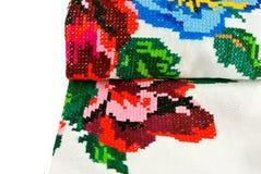 Dettaglio nazionale dell'asciugamano Immagini Stock